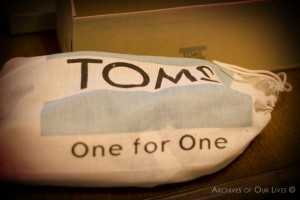 TOMS shoe protector bag