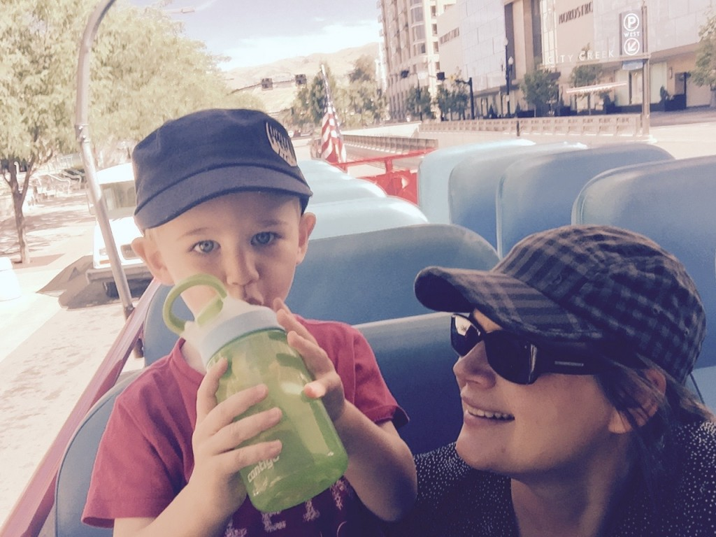 Camille and Hutch on Bus